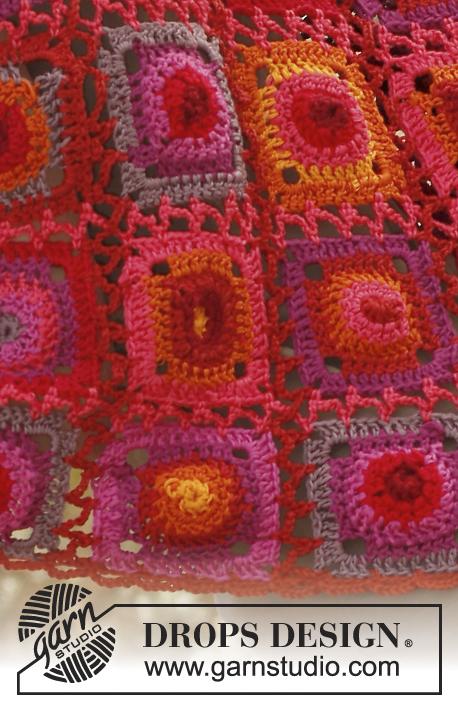 Crochet Patterns Free Drops : Firenza / DROPS 136-12 - Crochet DROPS shawl with granny ...