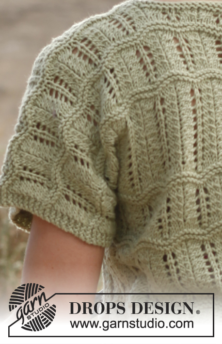 Free Drops Knitting Patterns : Mystic River / DROPS 136-6 - Free knitting patterns by DROPS Design