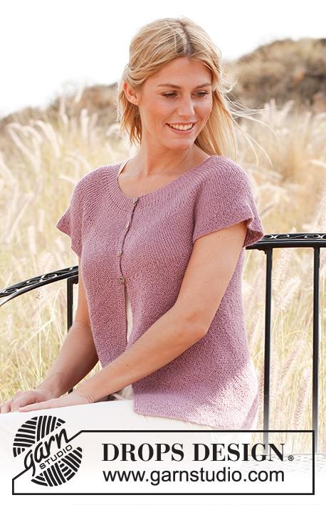 "Charme / DROPS 137-32 - DROPS svetr pletený vroubkovým vzorem z příze ""Alpaca"". Velikost S – XXXL."