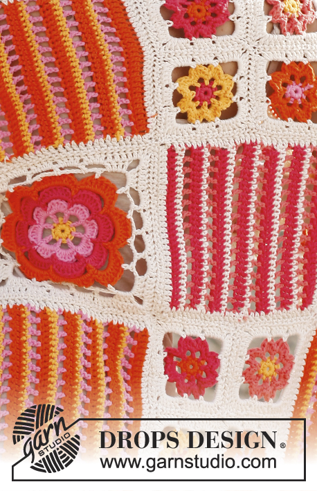 Orange Blossom / DROPS 139-39 - Free crochet pattern by ...