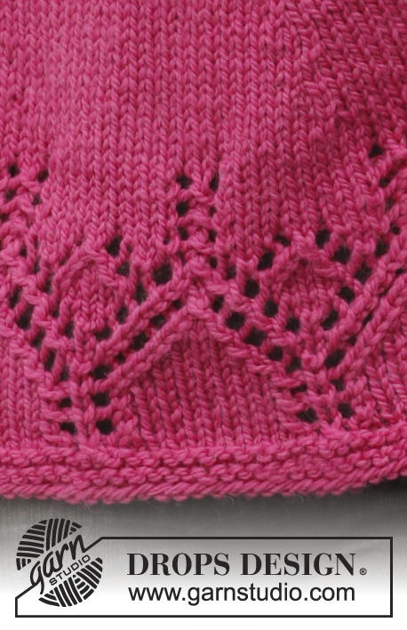Raspberry Treasure / DROPS 140-21 - Free knitting patterns by DROPS Design