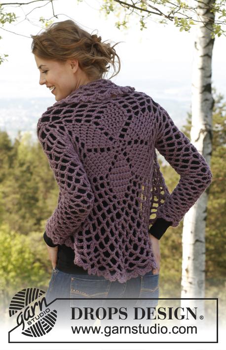 Crochet Patterns Free Drops : Dalie Delight / DROPS 141-1 - Crochet DROPS jacket worked ...