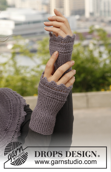 Ellies Gloves Drops 141 3 Free Knitting Patterns By Drops Design