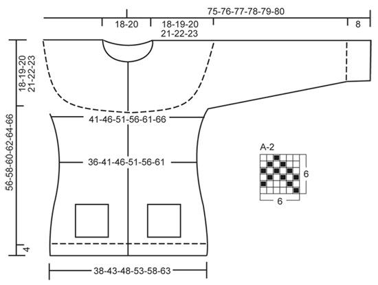 "Bergen - Knitted DROPS jacket with round yoke, pockets and Norwegian pattern in ""Alpaca"". Size XS – XXXL - Free pattern by DROPS Design"
