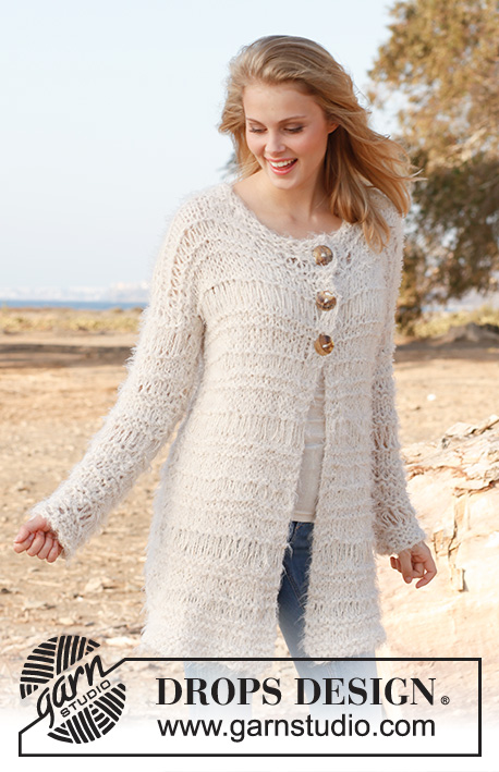Douce Jacket Drops 146 20 Free Knitting Patterns By Drops Design