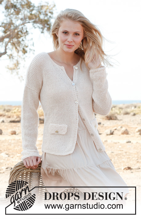 Mariah / DROPS 146-6 - Knitted DROPS jacket in BabyAlpaca Silk and Kid-Silk. Size: S - XXXL.