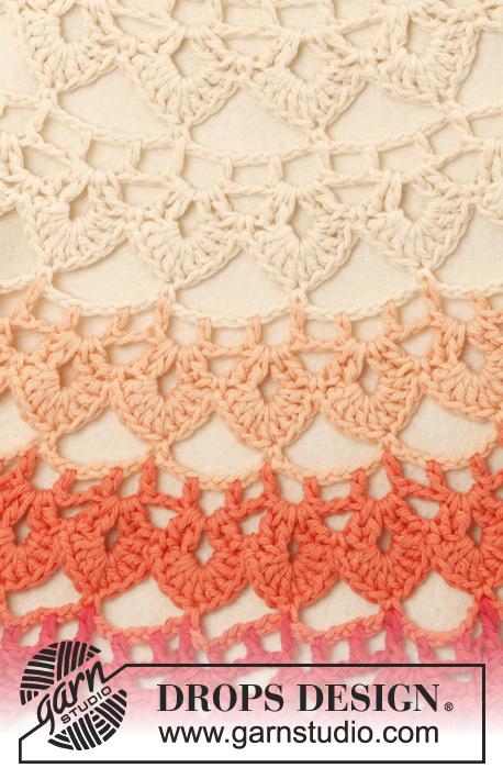 Crochet Patterns Free Drops : Popsicle / DROPS 147-1 - Crochet DROPS poncho in