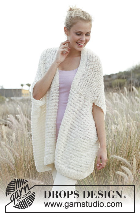 Crochet Jacket Free Pattern Via Garn Studio : Drops design, Belle and Cotton on Pinterest