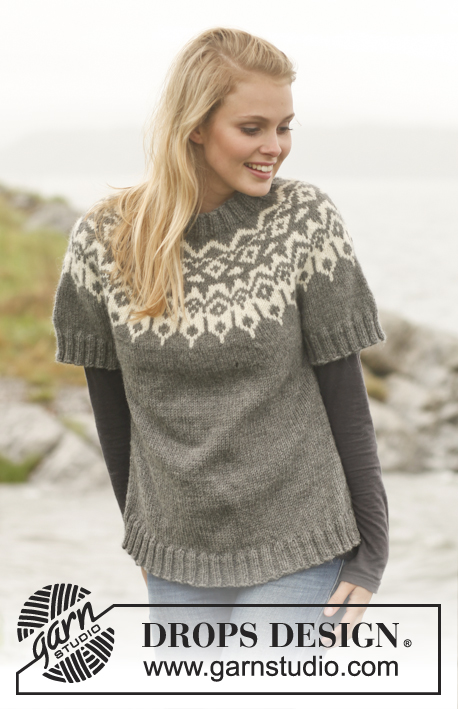 Arctic Circle Sweater / DROPS 150-31 - Knitted DROPS jumper with round yoke and pattern in Nepal. Size: S - XXXL.