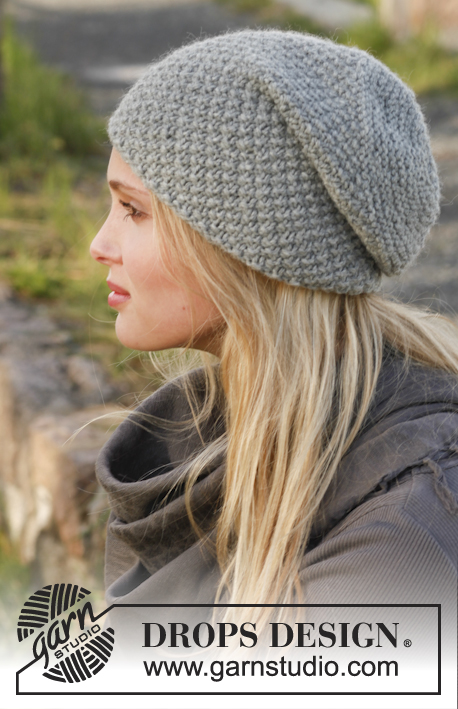 Free Knitting Pattern Hat 10mm Needles : Mossing around / DROPS 150-40 - Gratis strikkeoppskrifter ...