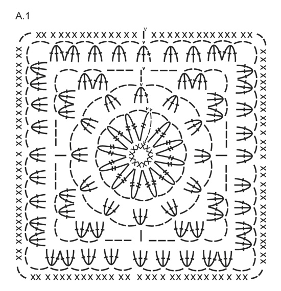 Log Cabin / DROPS 150-54 - Free crochet patterns by DROPS Design