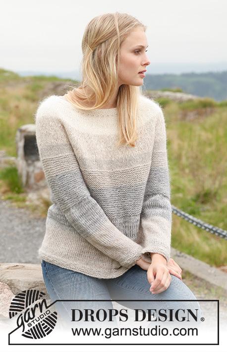 f4e2a359 Morning Mist Sweater / DROPS 151-10 - Gratis strikkeoppskrifter fra ...