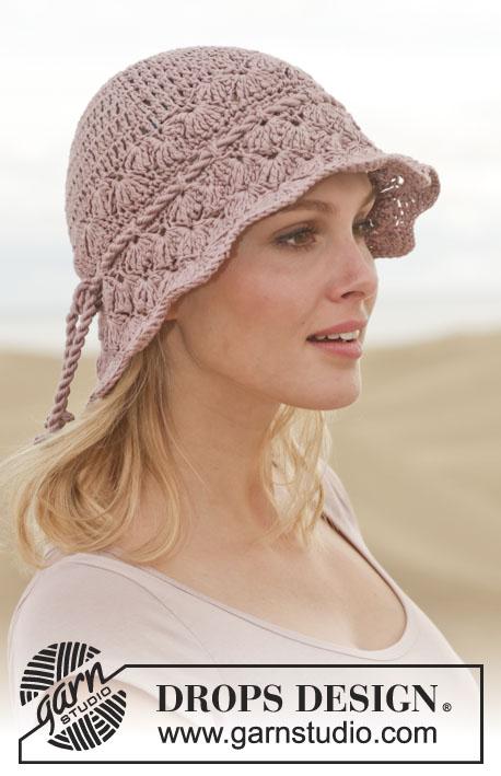 Free Crochet Patterns For Ladies Summer Hats : Glimpse of Spring / DROPS 153-36 - Virkad DROPS hatt i ...