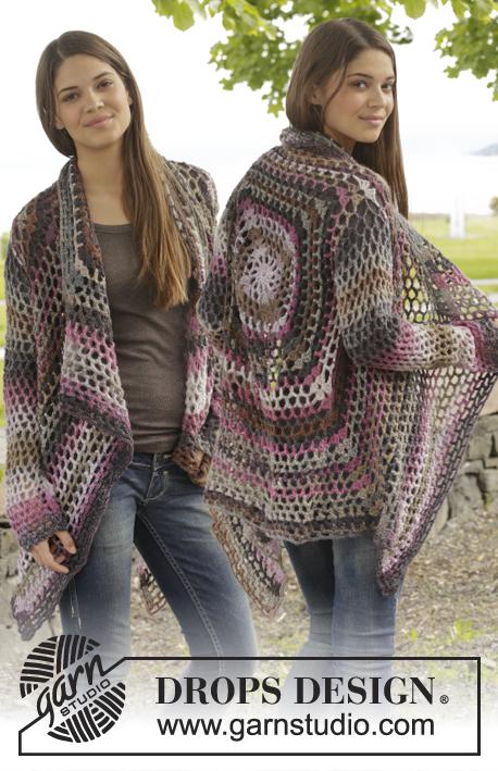 Crochet Patterns Free Drops : Around the World / DROPS 156-42 - Crochet DROPS jacket ...
