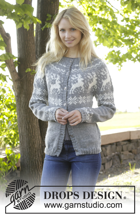 Silver Stag Cardigan / DROPS 157-24 - Free knitting patterns by ...