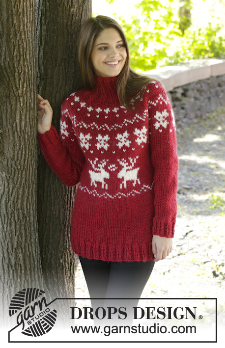 Merry Red Drops 158 16 Free Knitting Patterns By Drops Design
