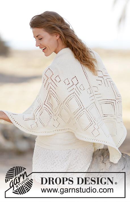 Summer Diamond Shawl / DROPS 160-10 - Free knitting patterns by ...