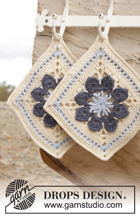 Kitchen Flowers Drops 162 35 Modèles Crochet Gratuits De