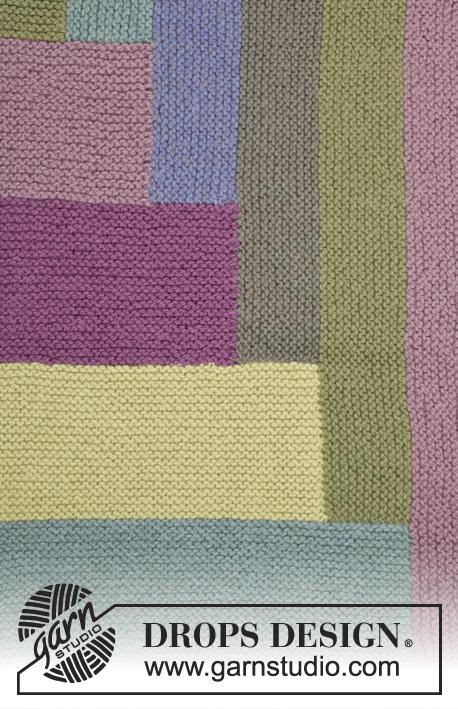 Coperta Con I Ferri.Colorblock Drops 163 9 Modelli Di Maglia Gratuiti Di Drops Design