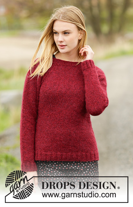 Winter Wine by DROPS Design damsweater