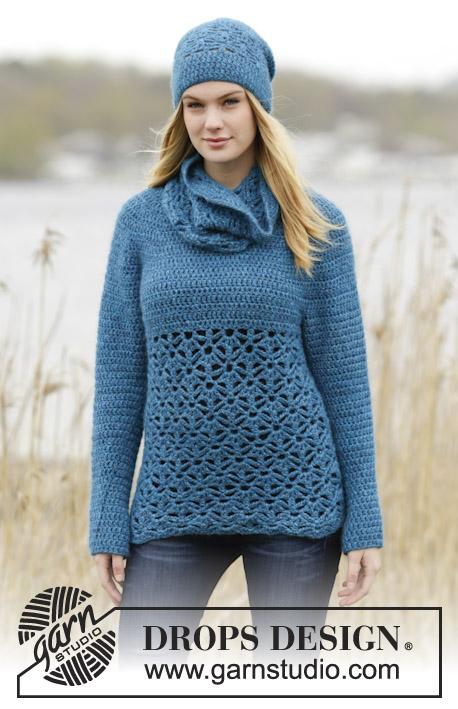 8f1dfe6d4 Lakeside   DROPS 164-31 - Free crochet patterns by DROPS Design