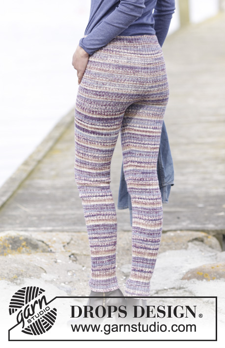 So Cosy / DROPS 165-32 - Knitted DROPS tights with rib in Fabel. Size: S - XXXL.