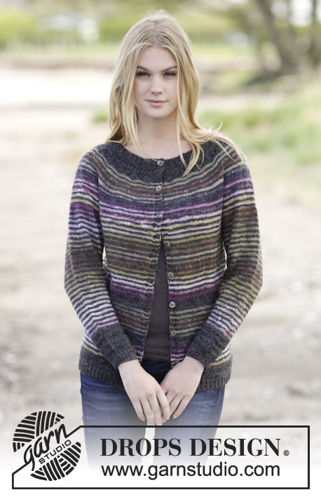 Frosty Morning Cardigan Drops 165 45 Free Knitting Patterns By