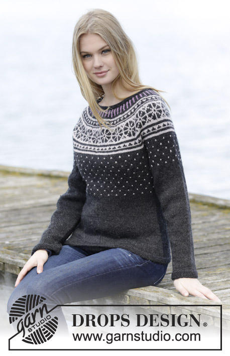 Starry Night Jumper / DROPS 166-23 - Kostenlose Strickanleitungen ...