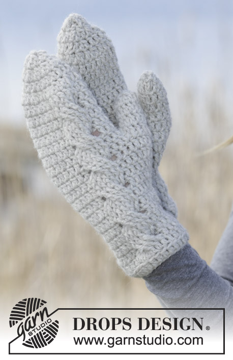 Snowdrift Gloves / DROPS 166-31 - Free crochet patterns by DROPS Design