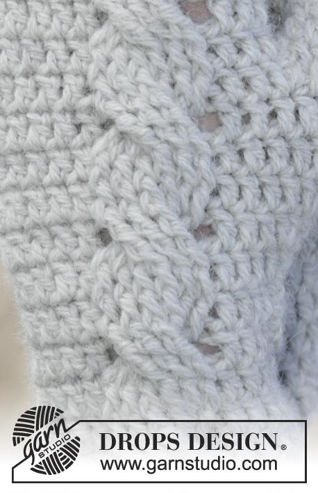 Snowdrift Gloves / DROPS 166-31 - Patrones de ganchillo gratuitos ...