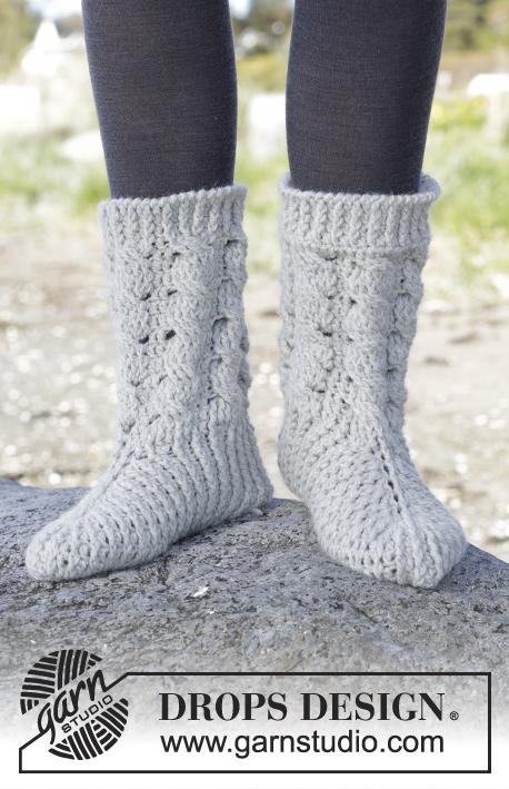 Snowdrift Socks Drops 166 33 Kostenlose Häkelanleitungen Von