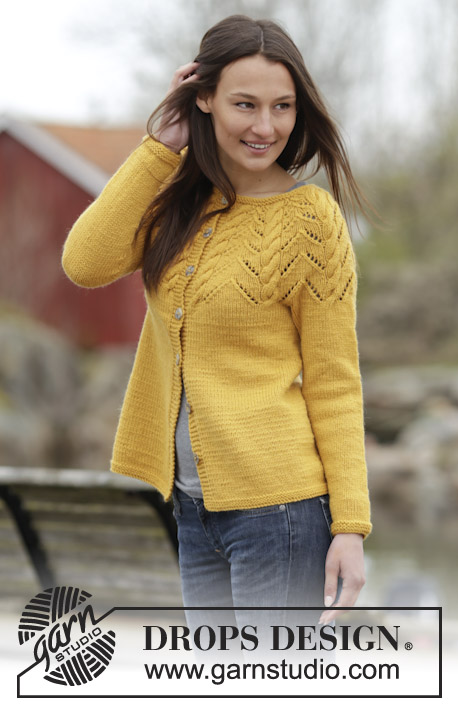 Crochet Jacket Free Pattern Via Garn Studio : tejido dos agujas on Pinterest Drops Design, Cardigan ...