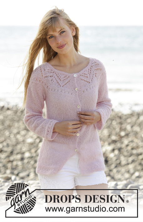 c8bf4e528 Pink Connection Cardigan   DROPS 167-12 - Free knitting patterns by ...