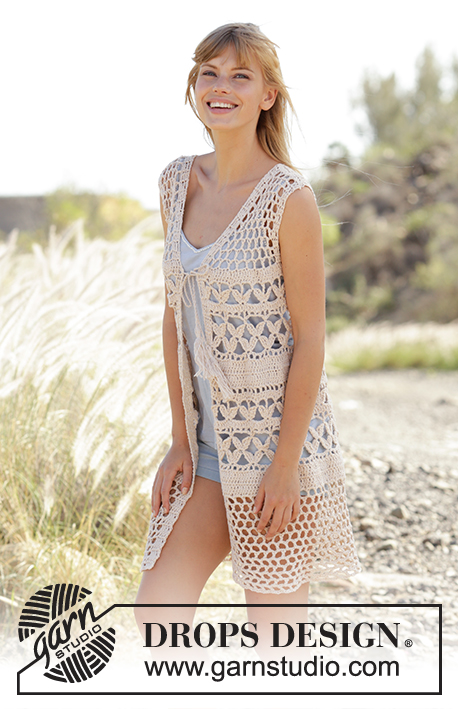 Summer Bliss Vest Drops 167 19 Free Crochet Patterns By Drops Design