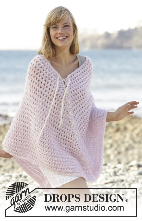 Knitting Pattern For Summer Poncho : Sweet Crush / DROPS 167-24 - Free knitting patterns by DROPS Design