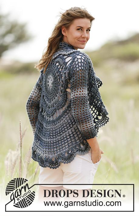 Evening Tide Drops 168 27 Modèles Crochet Gratuits De Drops Design