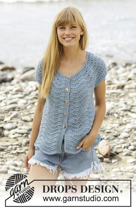 Shore Line Cardigan Drops 168 31 Free Knitting Patterns By Drops