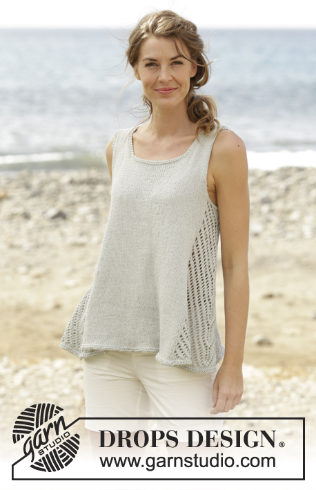 Venezia Top / DROPS 168-33 - Free knitting patterns by DROPS Design