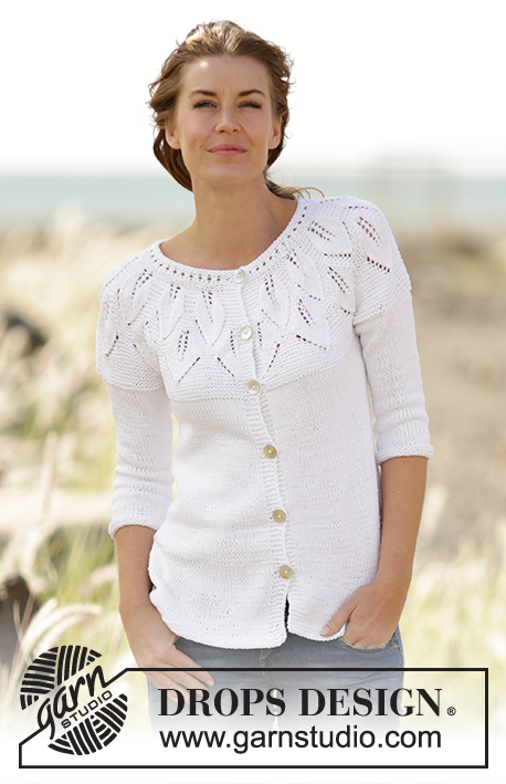 Summer Leaves Cardigan / DROPS 169-2 - Free knitting