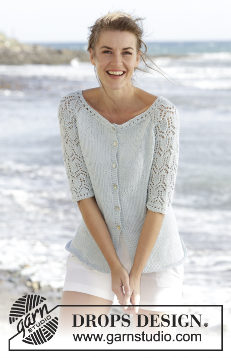 Sea Nymph Cardigan / DROPS 169-5 - Free knitting patterns by DROPS ...