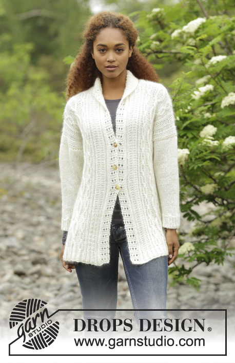 Irish Winter Cardigan / DROPS 171-9 - Free knitting patterns by ...