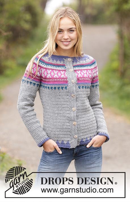 fa2fbdd4b29f5f Helsinki Cardigan   DROPS 172-34 - Free crochet patterns by DROPS Design