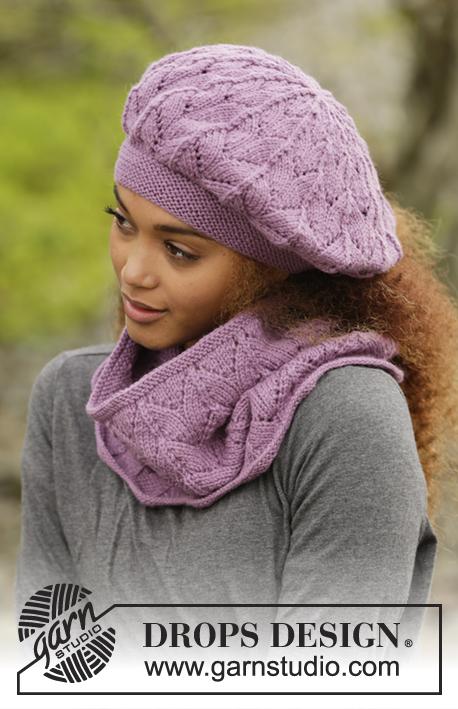 modele bonnet tricot femme drops