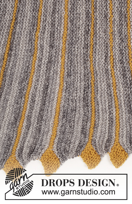 Drops Knitting Patterns : Dragon Tail / DROPS 173-19 - Free knitting patterns by DROPS Design