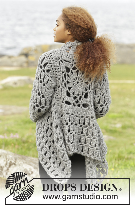 Crochet Jacket Free Pattern Via Garn Studio : Stony Ridge / DROPS 173-31 - Free crochet patterns by ...