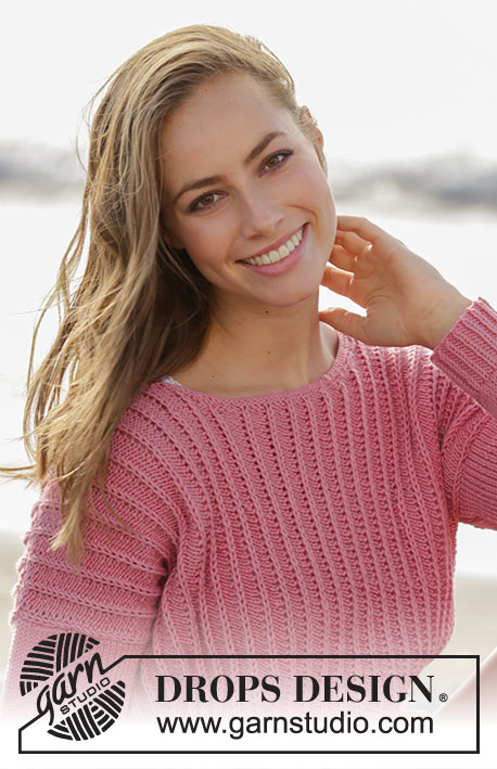 Marion / DROPS 175-19 - Knitted jumper with false fisherman's rib variation in DROPS Merino Extra Fine. Sizes S - XXXL.