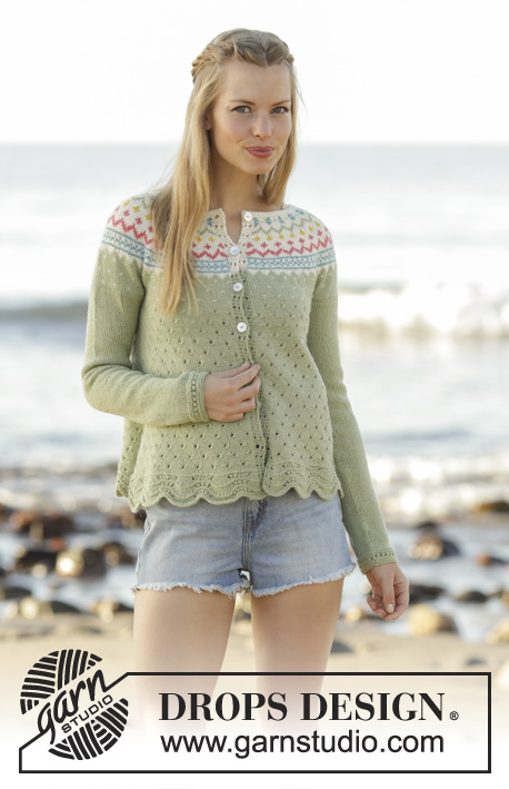 2f513f2e0a2b70 Spring Valley Cardigan   DROPS 175-8 - Free knitting patterns by DROPS  Design
