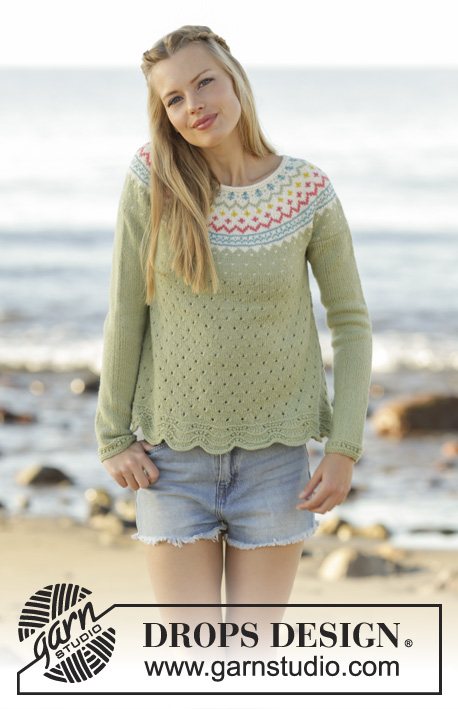 Spring Valley Jumper Drops 175 9 Free Knitting Patterns By Drops
