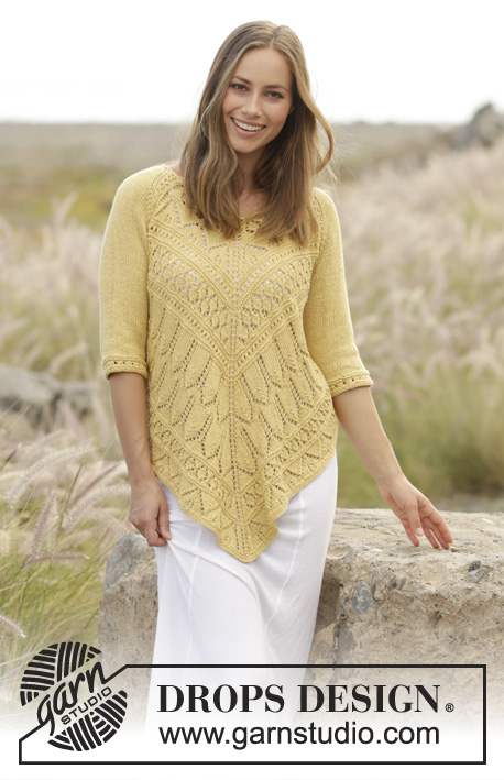 Golden Summer / DROPS 176-15 - Free knitting patterns by ...