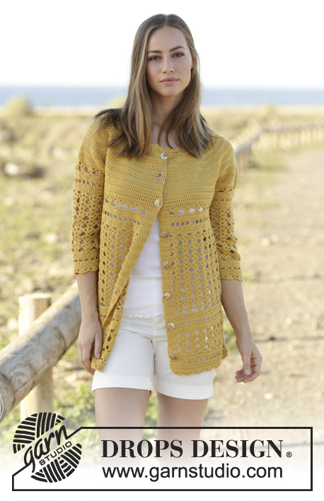 Sahara Cardigan Drops 176 17 Free Crochet Patterns By Drops Design